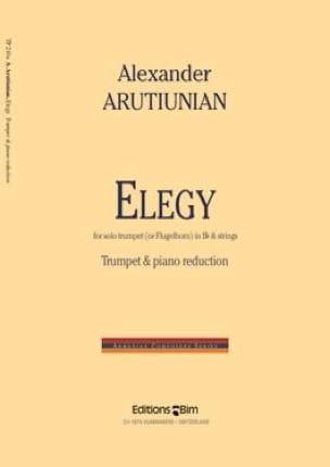 Alexander Arutiunian - Elegy - Partition - di-arezzo.fr