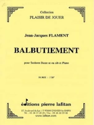 Balbutiement - Jean-Jacques Flament - Partition - laflutedepan.com
