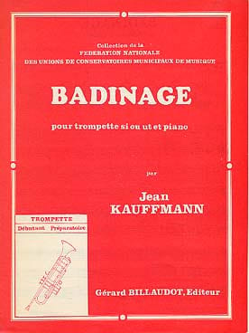 Badinage Jean Kauffmann Partition Trompette - laflutedepan