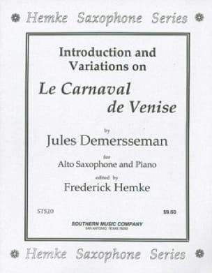 Jules Demersseman - Le Carnaval de Venise - Partition - di-arezzo.fr