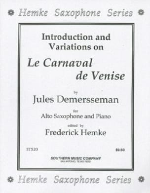 Jules Demersseman - ヴェネツィアカーニバル - 楽譜 - di-arezzo.jp