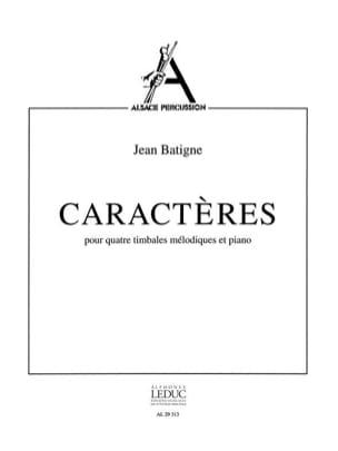Jean Batigne - Caractères - Partition - di-arezzo.fr