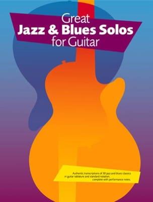 Great Jazz & Blues Solos For Guitar - Partition - laflutedepan.com
