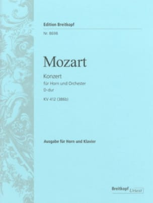 Wolfgang Amadeus Mozart - Konzert D Dur (N°1) KV 412 - Urtext - Partition - di-arezzo.fr