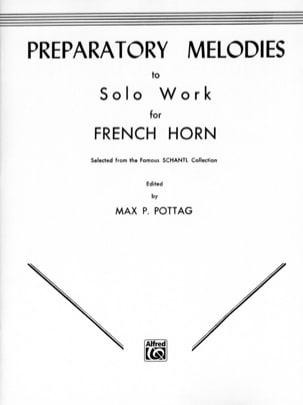 Max P. Pottag - Preparatory Melodies To Solo Work - Partition - di-arezzo.fr