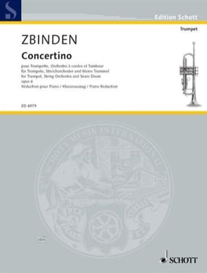 Julien-François Zbinden - Concertino Opus 6 - Partition - di-arezzo.fr