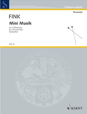 Mini Musik Siegfried Fink Partition laflutedepan