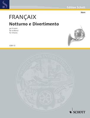Jean Françaix - Notturno E Divertimento - Sheet Music - di-arezzo.com