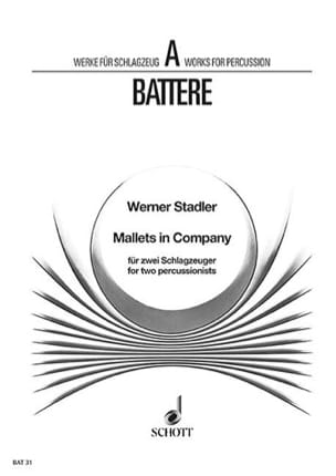 Werner Stadler - Mallets In Company - Partition - di-arezzo.fr