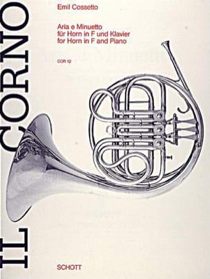 Aria E Minuetto - Emil Cossetto - Partition - Cor - laflutedepan.com