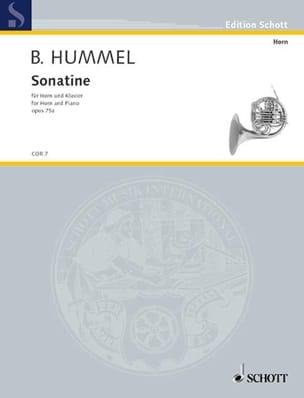 Sonatine Opus 75a Berthold Hummel Partition Cor - laflutedepan