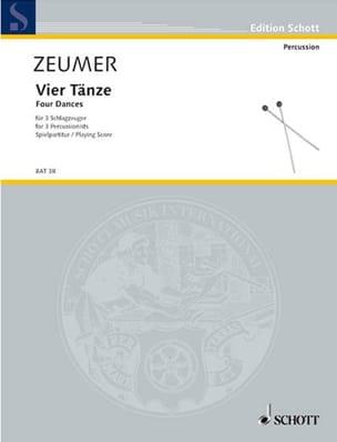 Gerhard Zeumer - Vier Tänze Für 3 Schlagzeuger - Partition - di-arezzo.fr