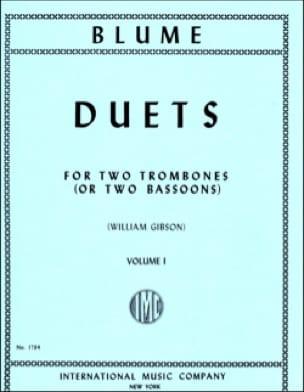 O. Blume - Duets Volume 1 - Partition - di-arezzo.fr