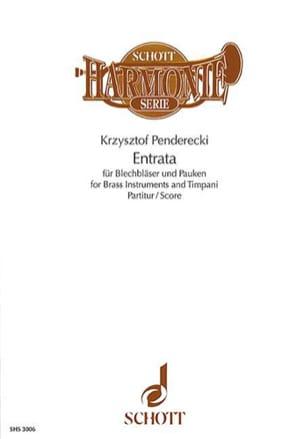 Krzysztof Penderecki - Entrata (Score) - Partition - di-arezzo.fr