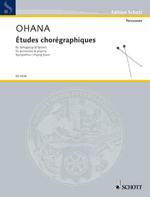 Maurice Ohana - Etudes Chorégraphiques (6 Spieler) - Partition - di-arezzo.fr