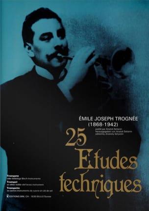 Emile Joseph Trognée - 25 Etudes Techniques - Partition - di-arezzo.fr