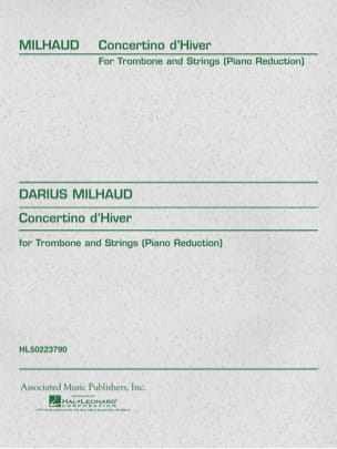 Darius Milhaud - Winter Concertino - Sheet Music - di-arezzo.co.uk