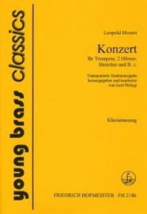 Konzert Leopold Mozart Partition Trompette - laflutedepan