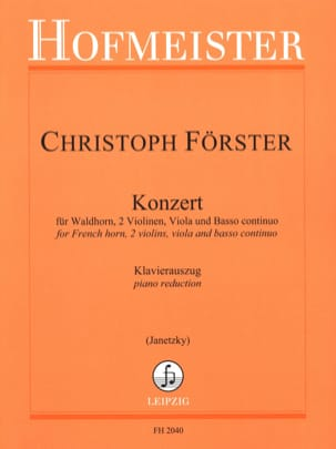 Christoph Förster - Konzert - Partitura - di-arezzo.it