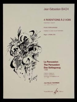 BACH - 4 Inventions A 2 Voix - Partition - di-arezzo.fr