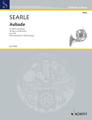 Humphrey Searle - Aubade Opus 28 - Partition - di-arezzo.fr