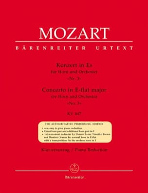 MOZART - Concerto No. 3 In Es KV 447 - Sheet Music - di-arezzo.co.uk