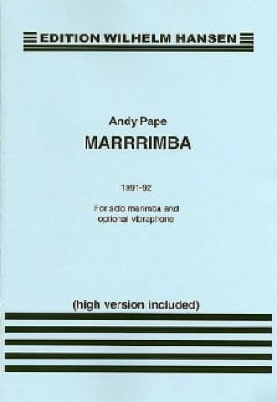 Marrrrimba (1991-92) - Andy Pape - Partition - laflutedepan.com