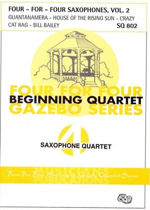 - Four For Four Saxophones Volume 2 - Partition - di-arezzo.fr