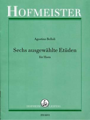 Agostino Belloli - 6 Ausgewählte Etüden - Partition - di-arezzo.fr