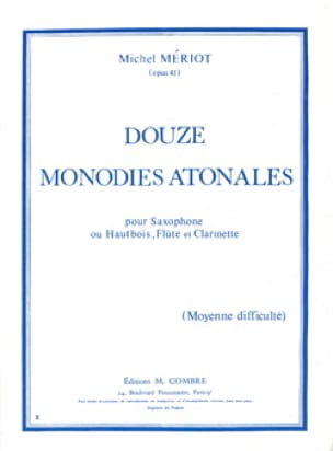 Michel Mériot - 12 Monodies Atonales - Partition - di-arezzo.fr