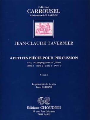 Jean-Claude Tavernier - 4 Small Percussion Parts - Sheet Music - di-arezzo.com
