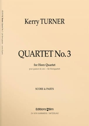 Kerry Turner - Quartet N ° 3 - Sheet Music - di-arezzo.co.uk
