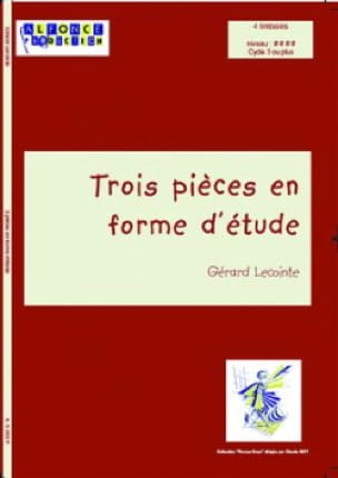 Gérard Lecointe - Three pieces in form of study - Sheet Music - di-arezzo.com