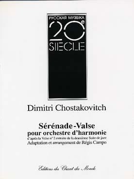 Sérénade-Valse CHOSTAKOVITCH Partition ENSEMBLES - laflutedepan
