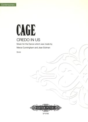 Credo In Us John Cage Partition Ensemble de percussions - laflutedepan