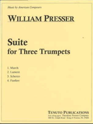 Suite for Three Trumpets - William Presser - laflutedepan.com