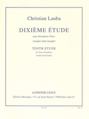 Christian Lauba - 10th Hard Too Hard Study - Sheet Music - di-arezzo.com