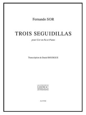 3 Seguidillas - Fernando Sor - Partition - Cor - laflutedepan.com