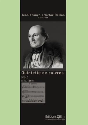 Jean François Victor Bellon - Quintette de Cuivres N° 5 - Partition - di-arezzo.fr