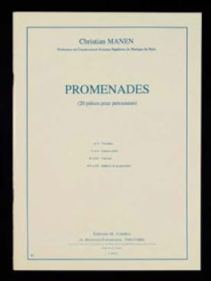 Promenades Christian Manen Partition Multi Percussions - laflutedepan