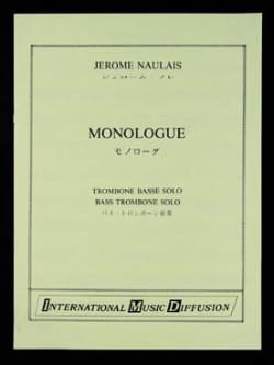 Jérôme Naulais - Monologue - Sheet Music - di-arezzo.co.uk