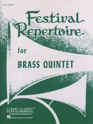 Festival Repertoire for Brass Quintet Partition laflutedepan