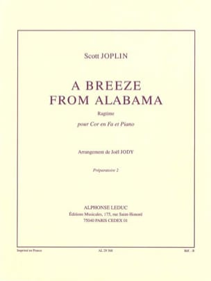 A Breeze From Alabama JOSPLIN Partition Cor - laflutedepan