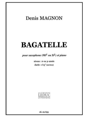 Denis Magnon - Bagatelle - Partition - di-arezzo.fr