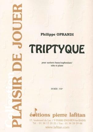 Philippe Oprandi - Triptyque - Partition - di-arezzo.fr