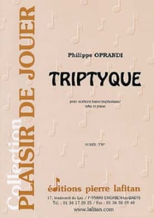 Triptyque Philippe Oprandi Partition Tuba - laflutedepan