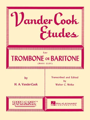 Etudes For Trombone B.C - H.A. Vandercook - laflutedepan.com