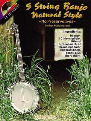 5 String Banjo Natural Style Partition laflutedepan