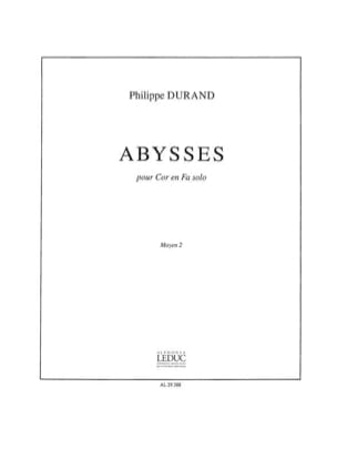 Philippe Durand - Abyss - Sheet Music - di-arezzo.co.uk