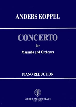 Concerto N° 1 for marimba Anders Koppel Partition laflutedepan